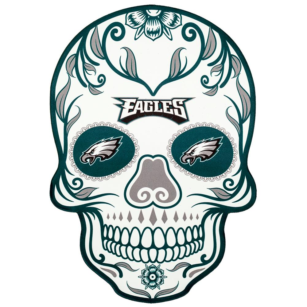 Applied Icon Nfl Philadelphia Eagles Outdoor Skull Graphic