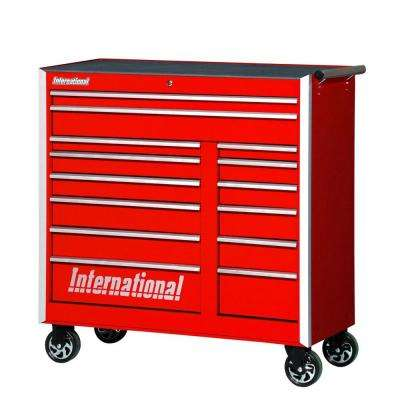 Pro Series 42 in. 14-Drawer Cabinet, Red