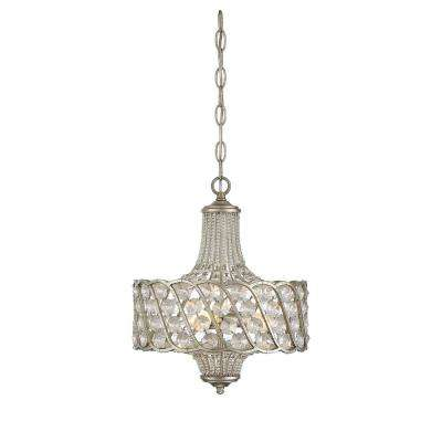 3-Light Silver Lace Chandelier
