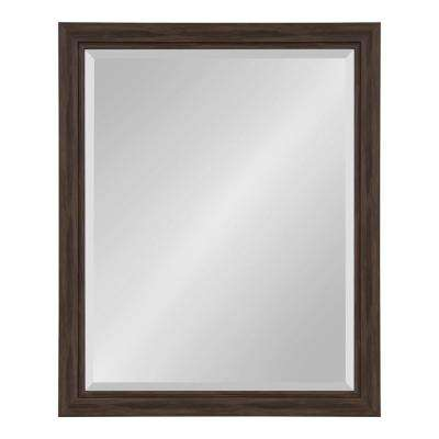 Dalat 26 in. x 32 in. Rectangle Walnut Brown Wall Mirror