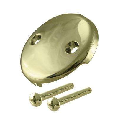 2-Hole Overflow Face Plate with 1/4 in. Screws
