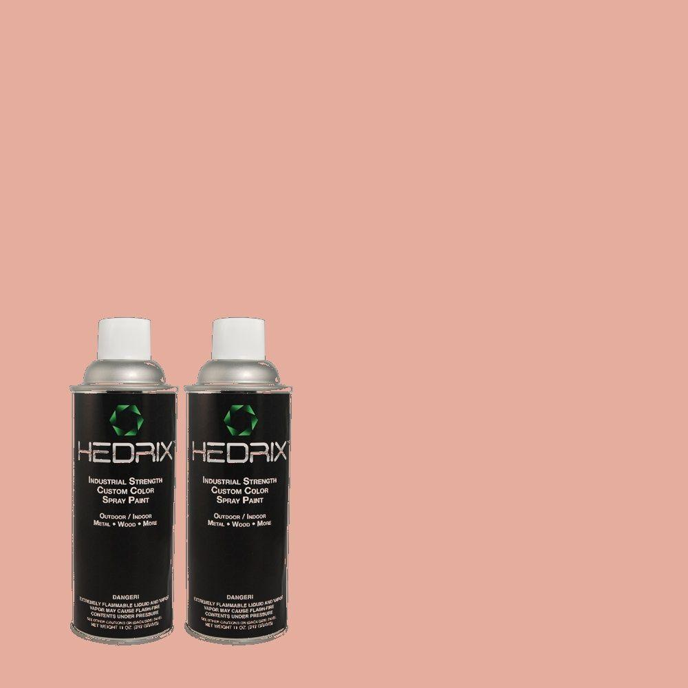 Hedrix 11 oz. Match of MQ4-3 Coral Fountain Semi-Gloss Custom Spray Paint (2-Pack)