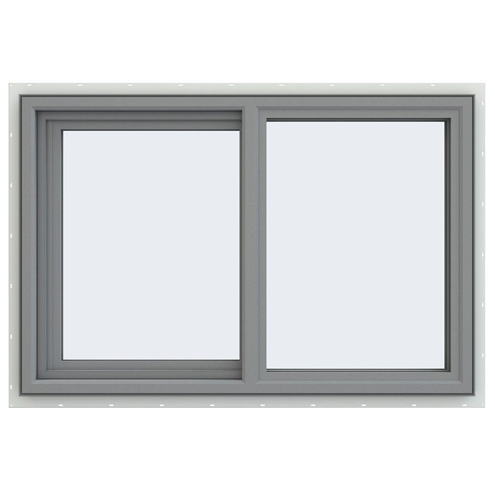 Jeld wen 35 5 in x 23 5 in v 4500 series left hand for Sliding glass windows