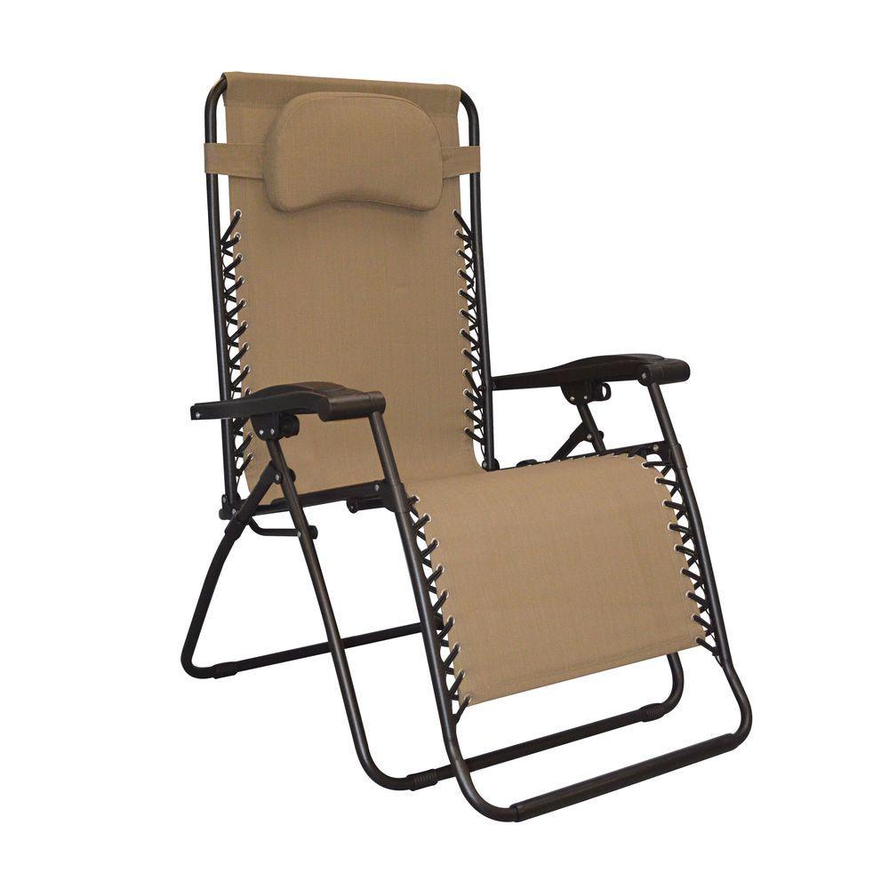 Captivating Caravan Sports Infinity Oversized Beige Zero Gravity Patio Chair 80009500150    The Home Depot