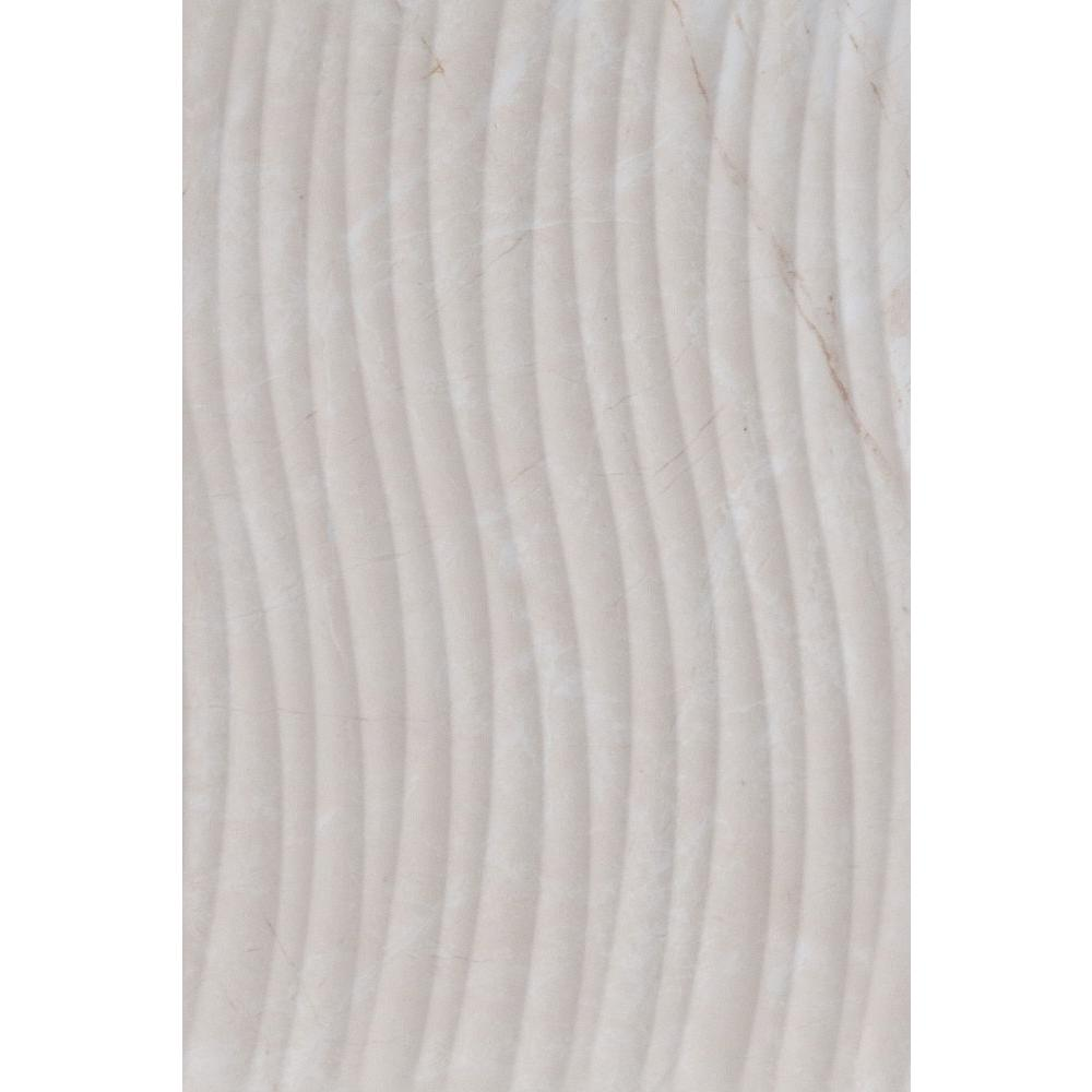 Delray Beige Wave Decor 8 in. x 12 in. Ceramic Wall