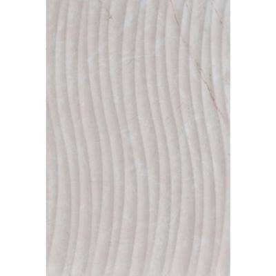 Delray Beige Wave Decor 8 in. x 12 in. Ceramic Wall Tile (16.15 sq. ft. / case)