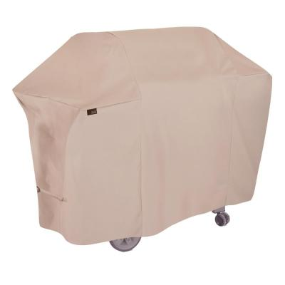 Chalet Water Resistant 4-Burner Grill Cover, 65 in. W x 25 in. D x 44.5 in. H, Medium, Beige