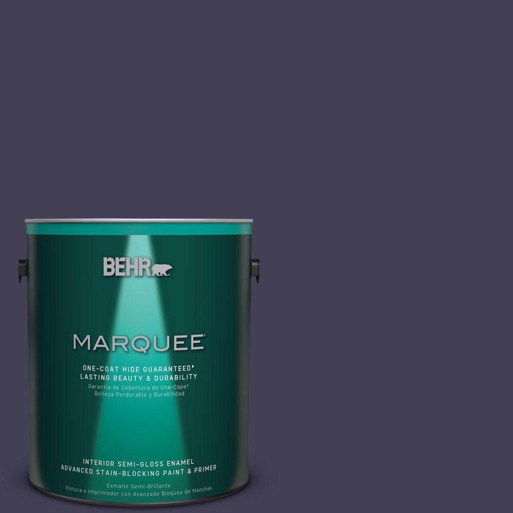 1 gal. #MQ5-39 Artistic License One-Coat Hide Semi-Gloss Enamel Interior Paint