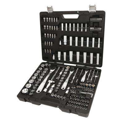 1/4 in., 3/8 in. & 1/2 in. Drive Metric Socket Set with Ratchets, Bits, Offset Key Wrenches, Socket Drivers (170-Piece)