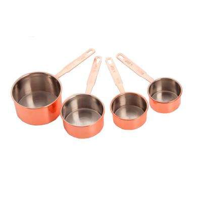 4-Piece Copper Measuring Cup Set