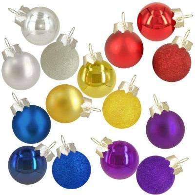 Holiday Traditions Mini Glass Ornament (15-Pack) (Assorted Styles - 5)