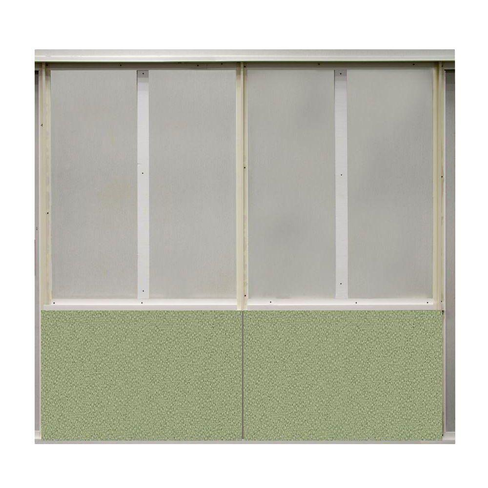 SoftWall Finishing Systems 20 sq. ft. Eucalyptus Fabric Covered Bottom Kit Wall Panel