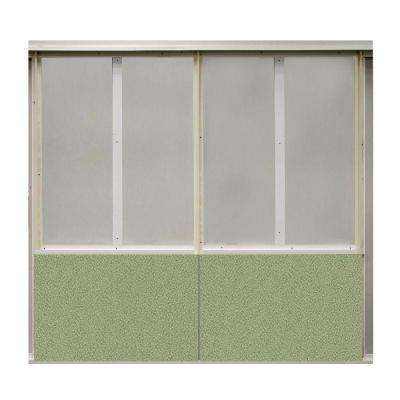 20 sq. ft. Eucalyptus Fabric Covered Bottom Kit Wall Panel