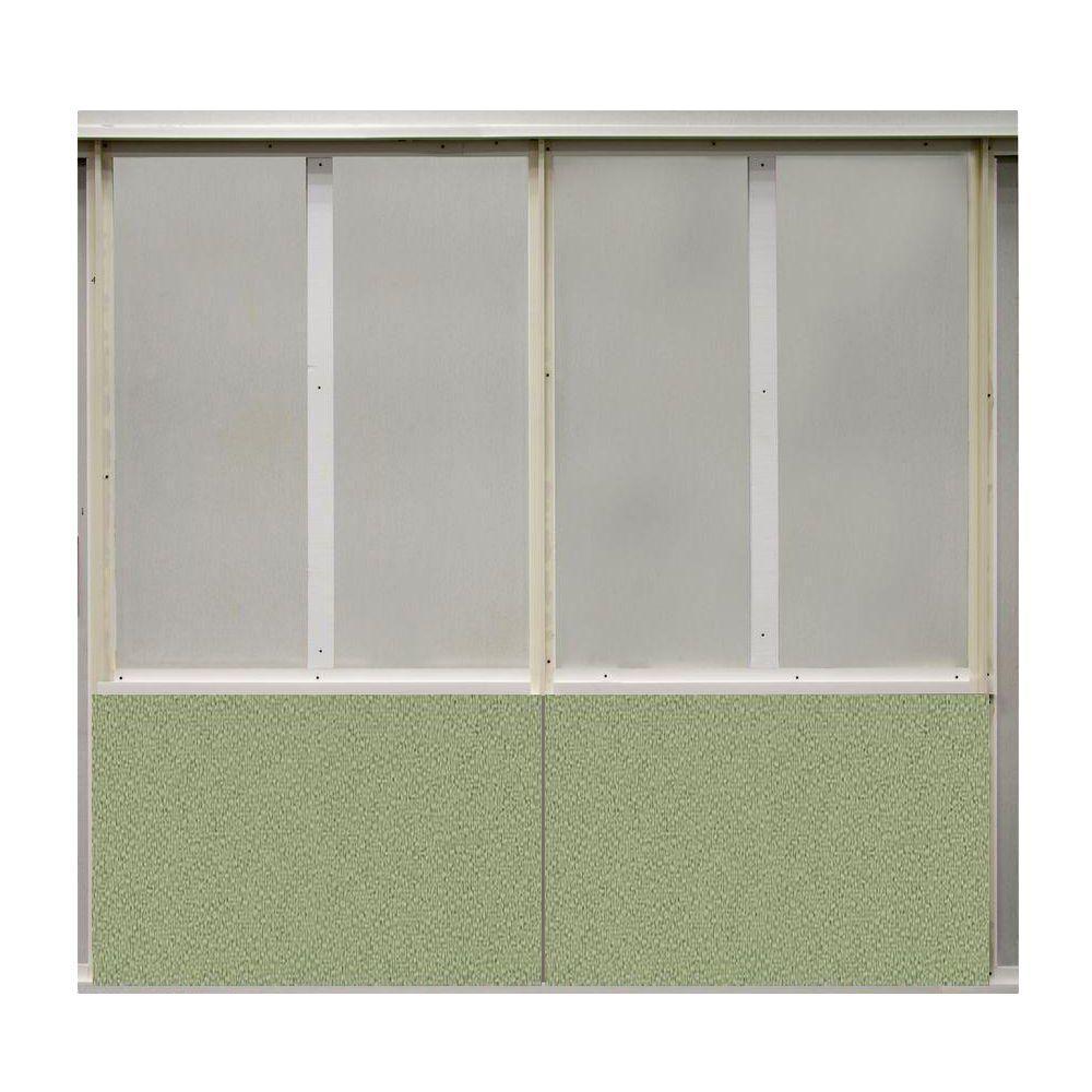 20 sq. ft. Eucalyptus Fabric Covered Bottom Kit Wall Panel