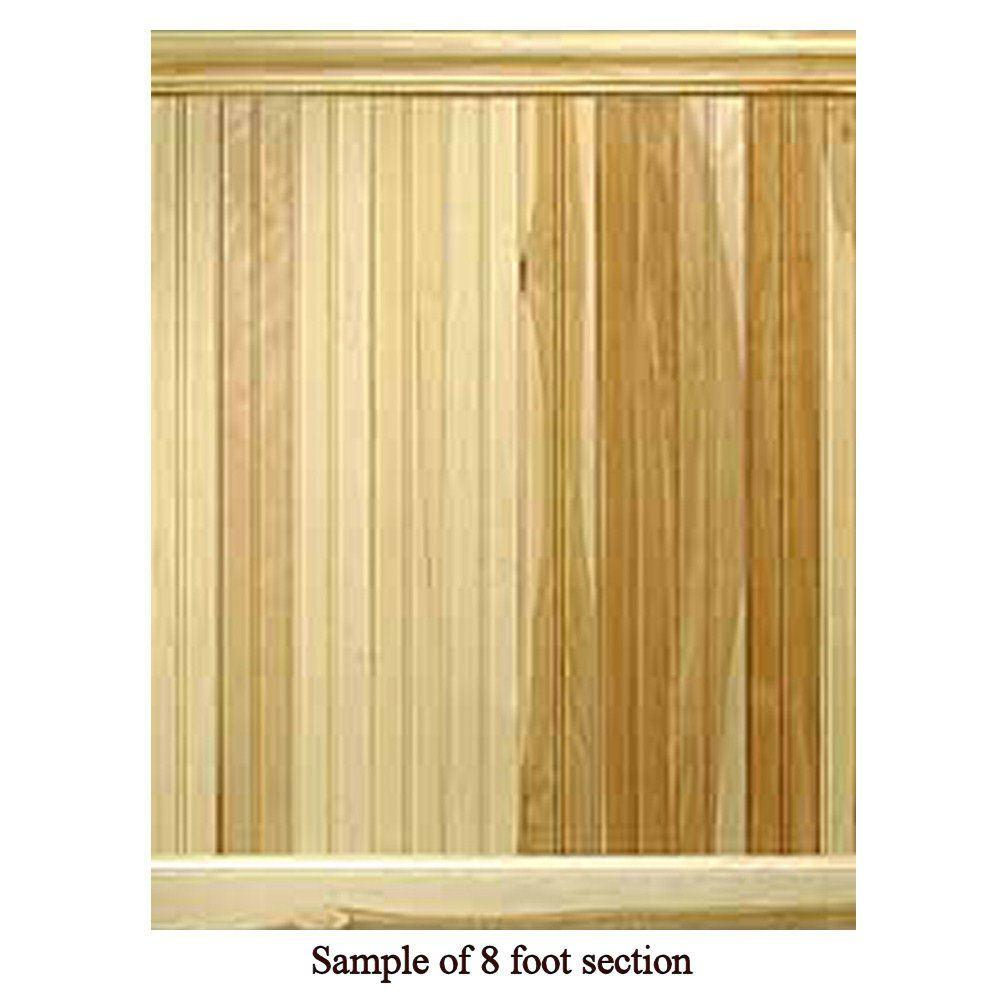 House of Fara 8 Linear ft. Hickory Tongue and Groove Wainscot Paneling-DISCONTINUED