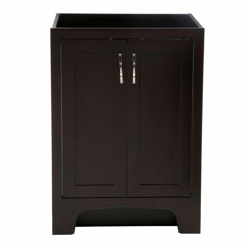 Design House Ventura 24 In W X 21 In D Two Door Unassembled Vanity Cabinet Only In Espresso