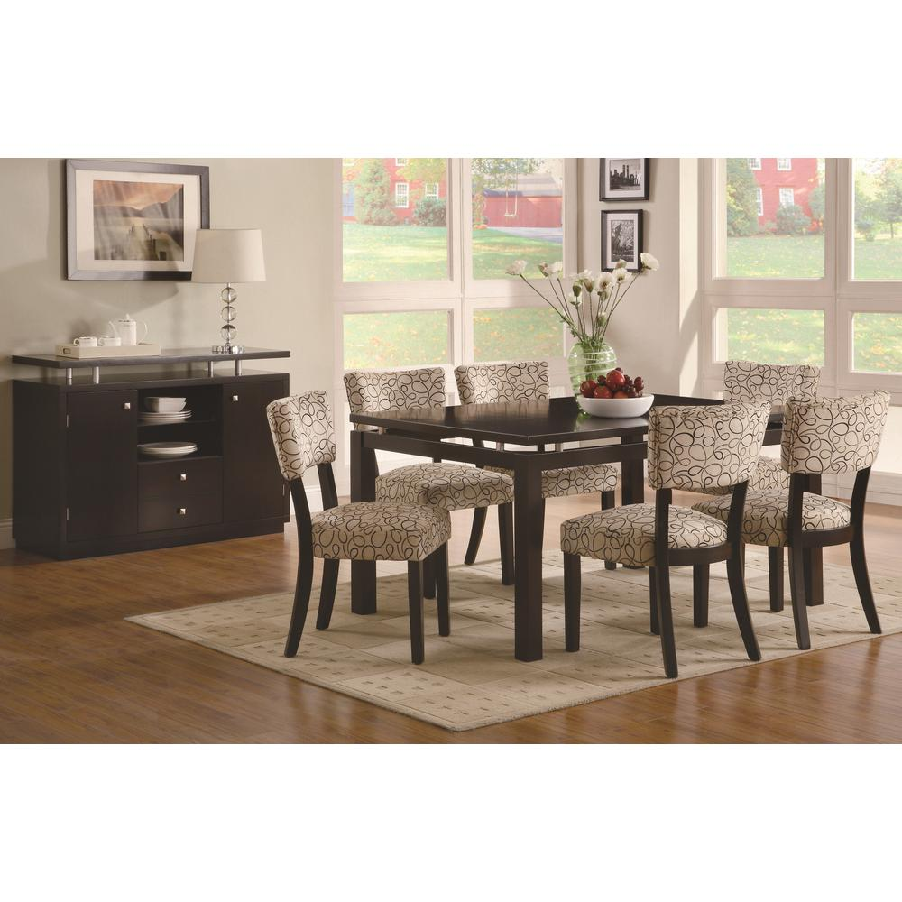 Coaster Furniture Libby Collection Tan/Cappuccino Dining ...