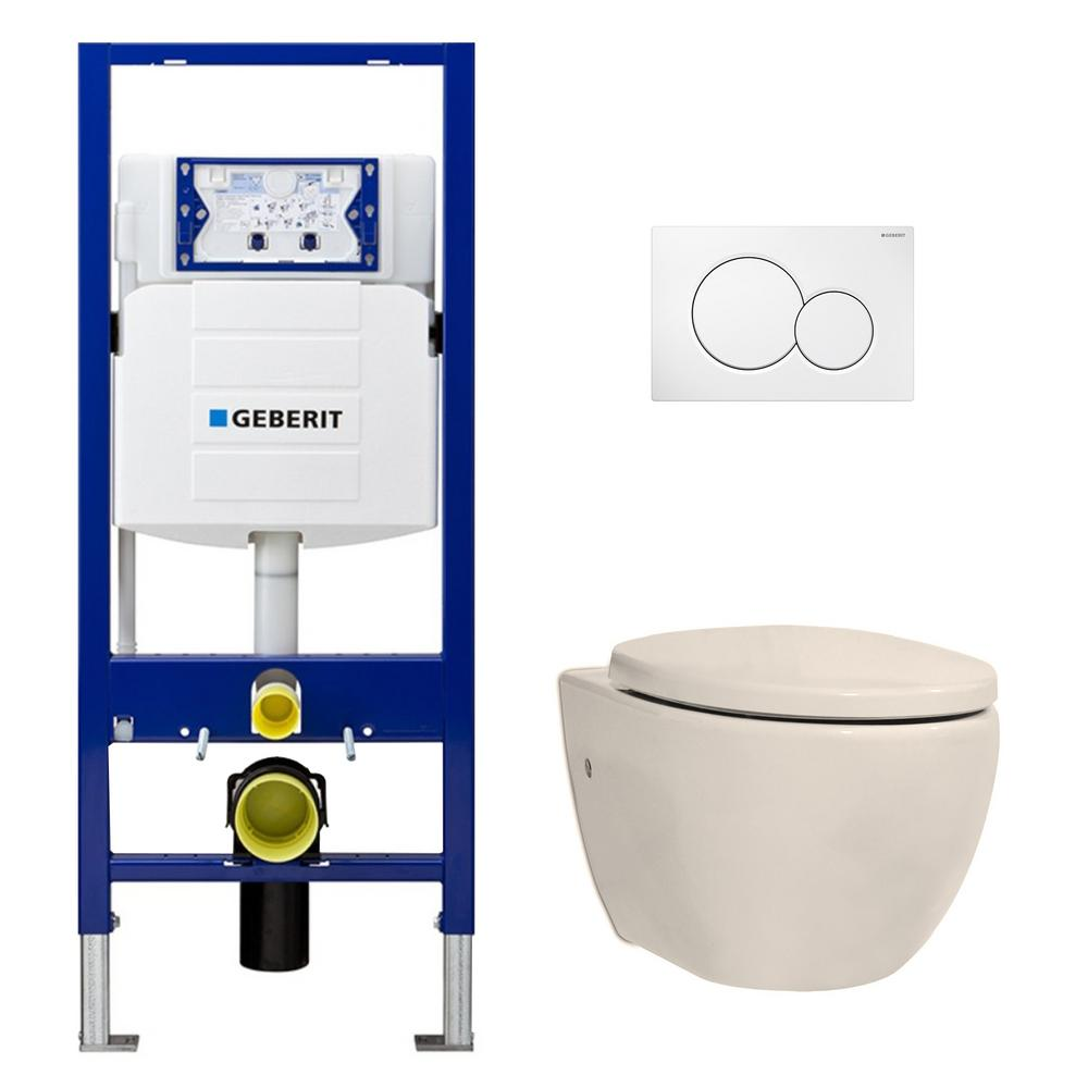 Incredible Geberit 1 28 Gpf Dual Flush 2 Piece Elongated Icera Toilet W Concealed Tank For 2X4 Construction And Dual Flush Plate In Balsa Dailytribune Chair Design For Home Dailytribuneorg