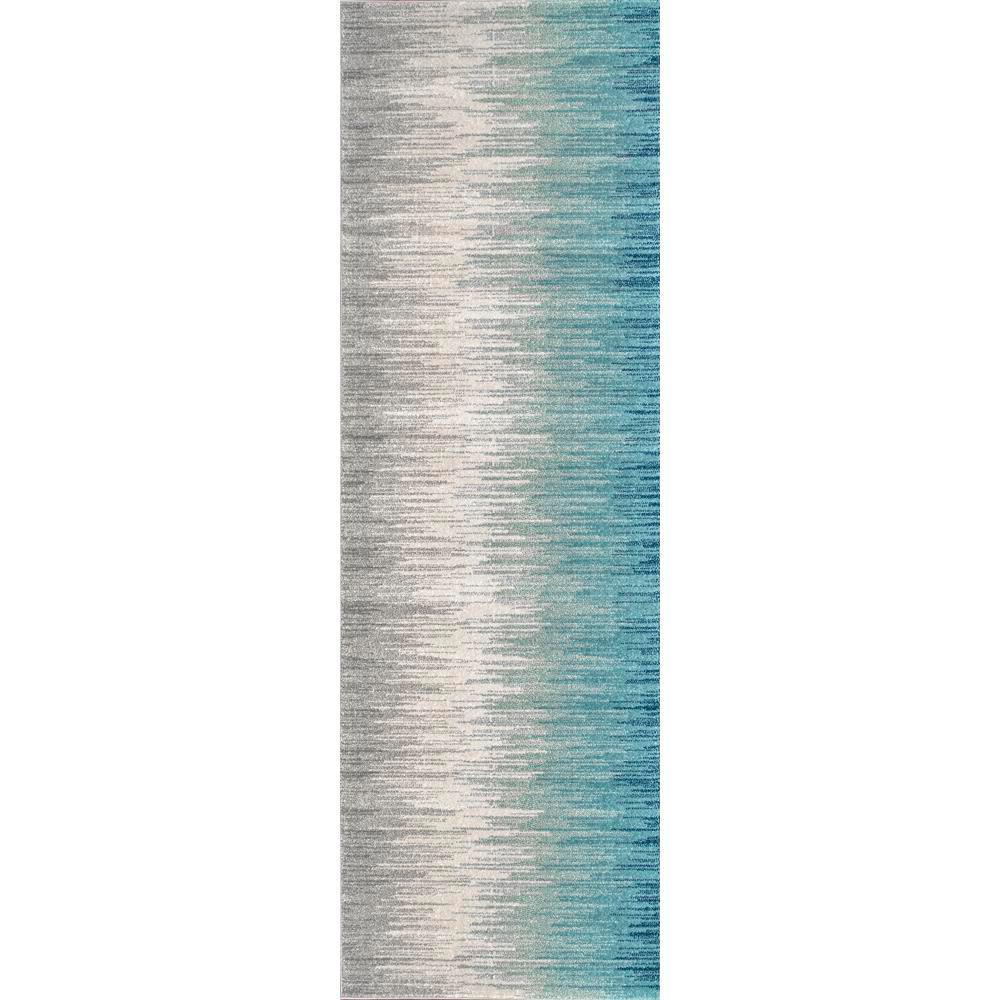 Lexie Blue 2 ft. 8 in. x 8 ft. Runner Rug