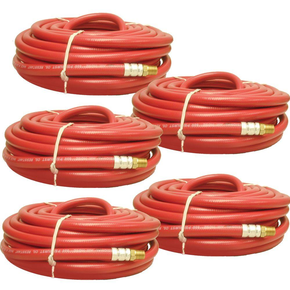 Buffalo Tools 5-Piece 1/4 in. Air Hose Set-DISCONTINUED