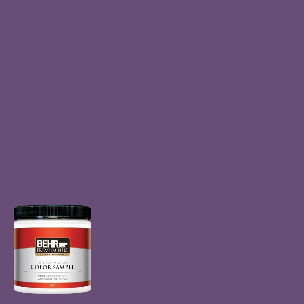 BEHR Premium Plus 8 oz. #660B-7 Exotic Purple Interior/Exterior Paint Sample