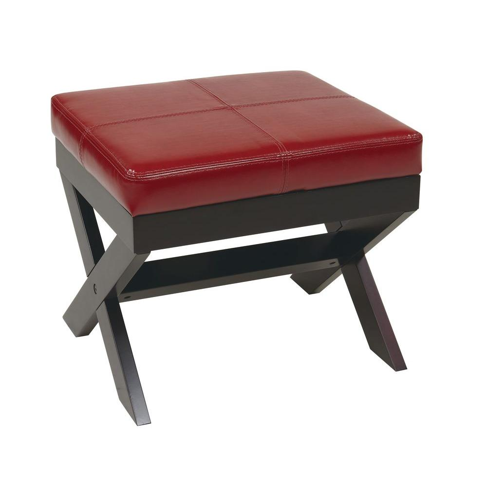 OSPdesigns X-Leg Square Bench in Red
