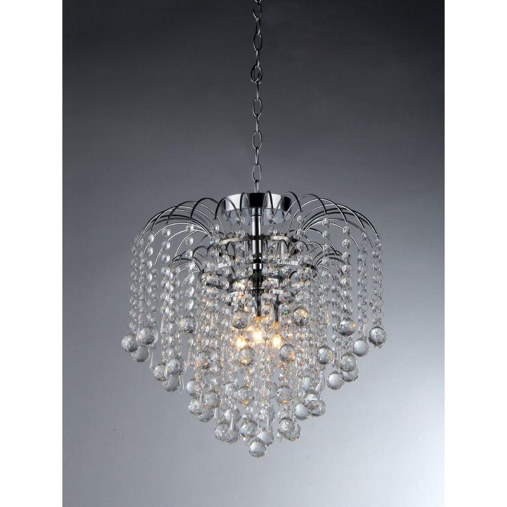 warehouse of tiffany chandelier. Warehouse Of Tiffany Candace 4-Light Crystal Chrome Chandelier R