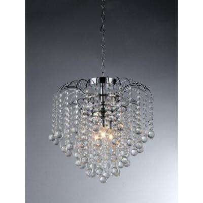 Candace 4-Light Crystal Chrome Chandelier