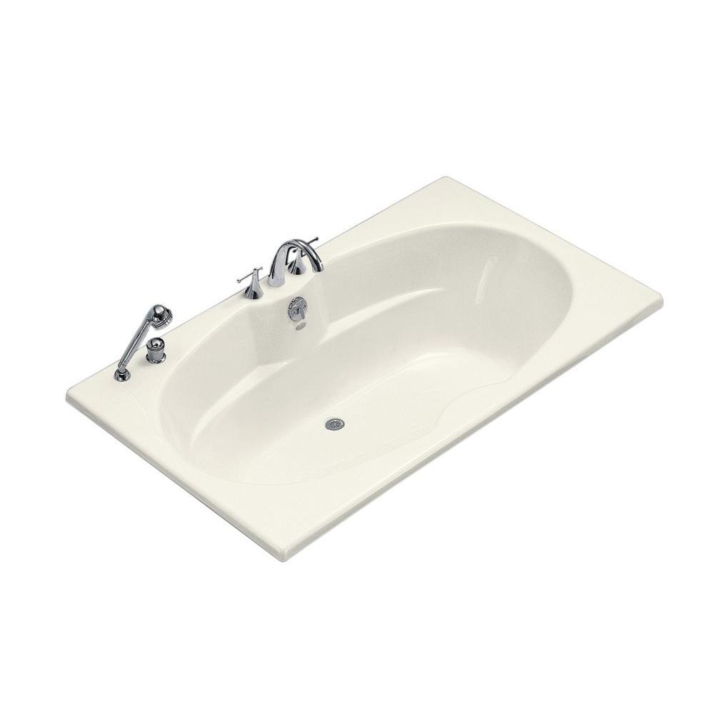 ProFlex 6 ft. Center Drain Drop-In Bathtub in Biscuit