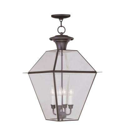 Providence 4-Light Bronze Outdoor Incandescent Hanging Lantern