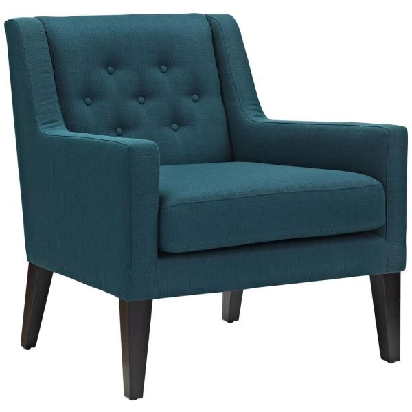 MODWAY Earnest Azure Upholstered Fabric Armchair EEI-2308-AZU