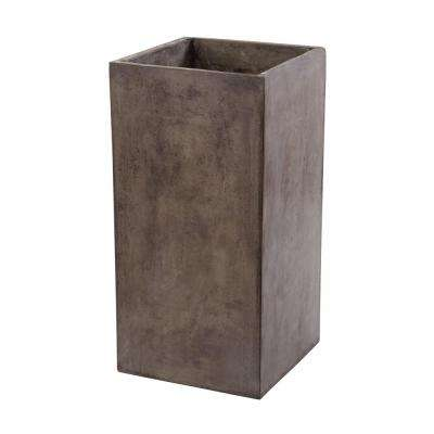 Al Fresco 16 in. x32 in. Gray Cement Planter