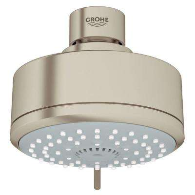 New Tempesta Cosmopolitan 100 4-Spray 4 in. Showerhead in Brushed Nickel InfinityFinish