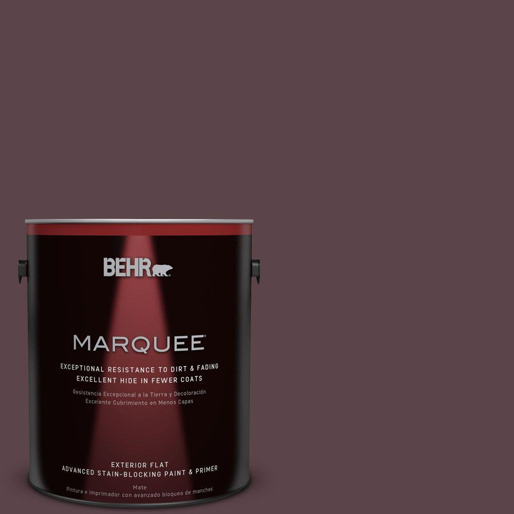 Home Decorators Collection 1-gal. #HDC-CL-07 Dark Berry Flat Exterior Paint