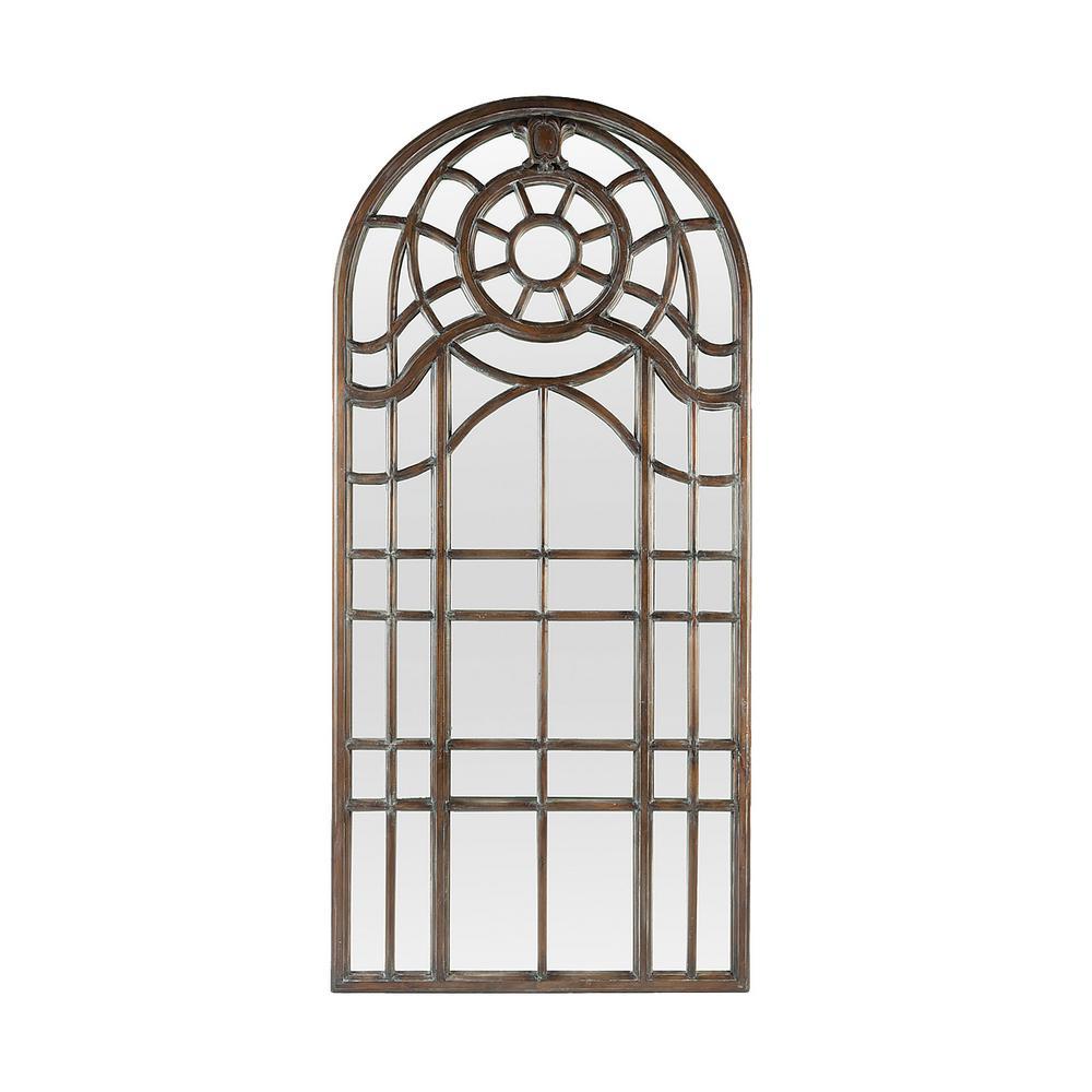 Mahogany floor mirror