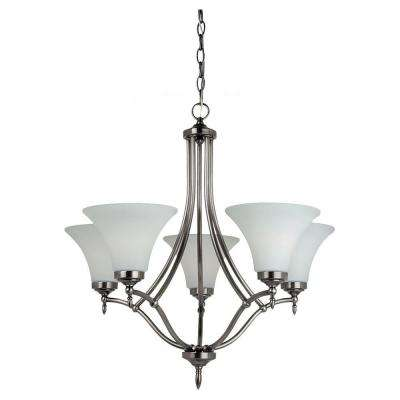 Montreal 5-Light Antique Brushed Nickel Single-Tier Chandelier