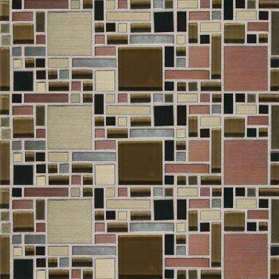 Fashion Accents Copper Fortress Blend 12 in. x 12 in. Glass and Stone Blend Mosaic Wall Tile (1 sq. ft. / piece)