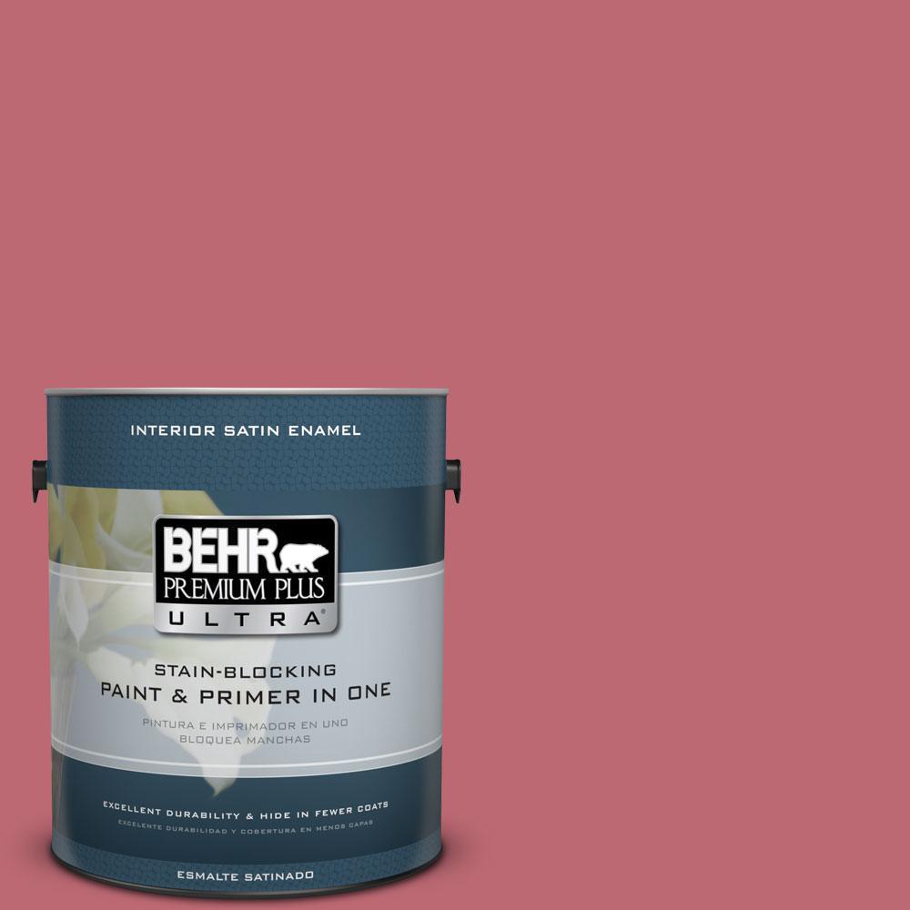 BEHR Premium Plus Ultra 1-gal. #M140-5 Cherry Fizz Satin Enamel Interior Paint
