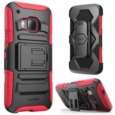 Prime Dual Layer Holster Case for HTC One M9, Red