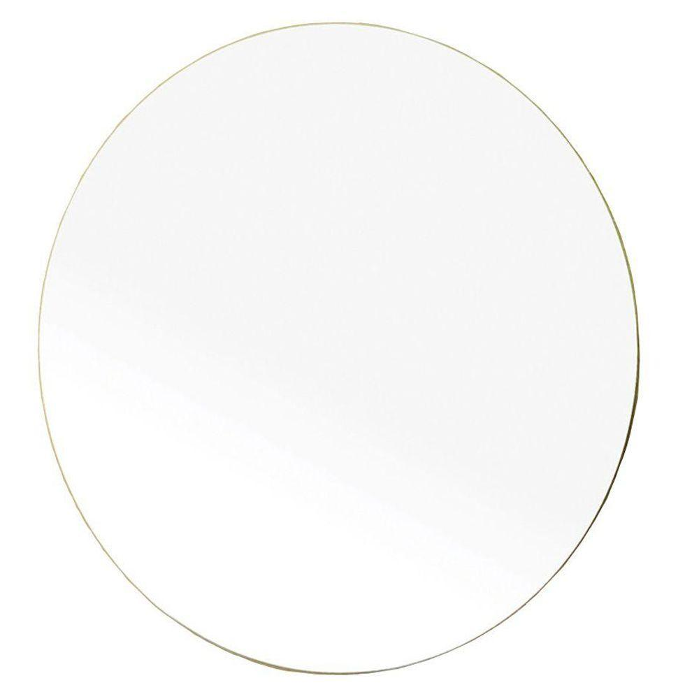Bellaterra Home Andorra 23 in. L x 23 in. W Wall Round Mirror