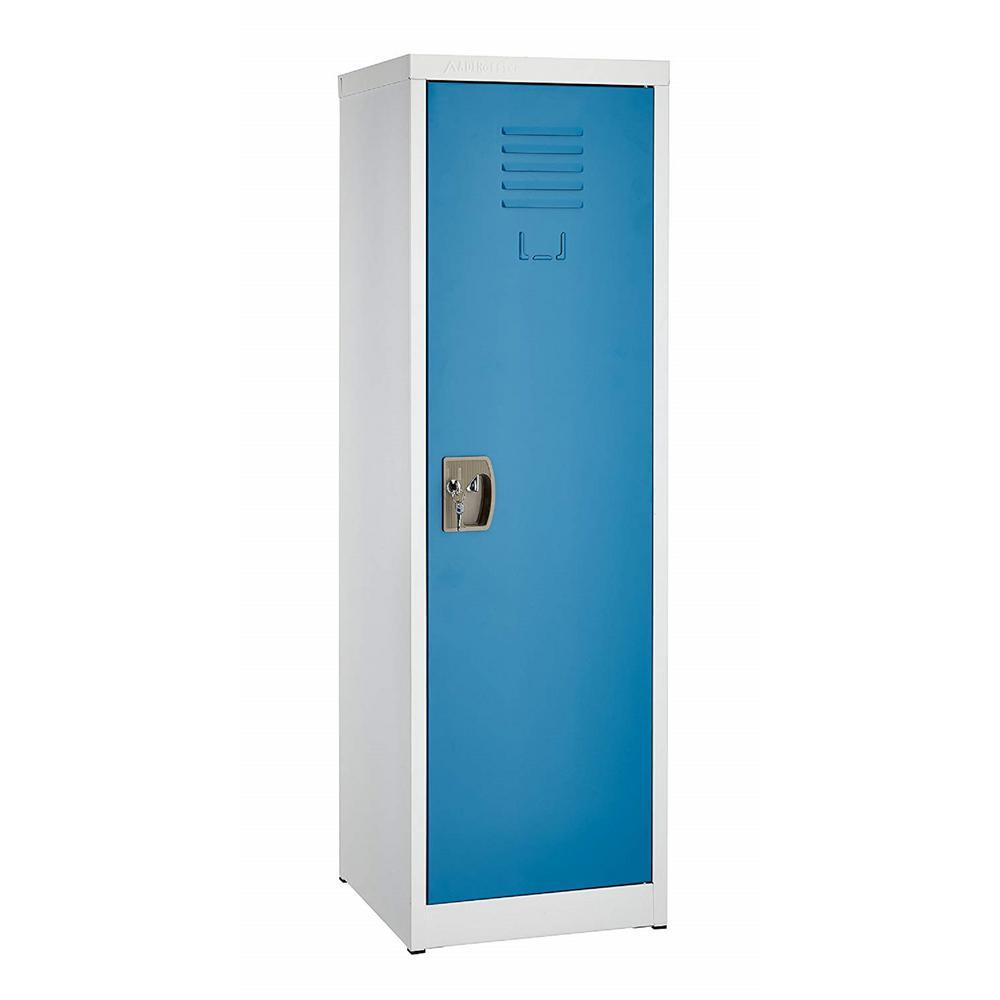 48 in. H x 15 in. W Steel Single Tier Locker in Blue