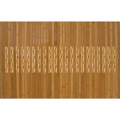Light Brown 20 in. x 48 in. Bamboo Kitchen and Bath Mat