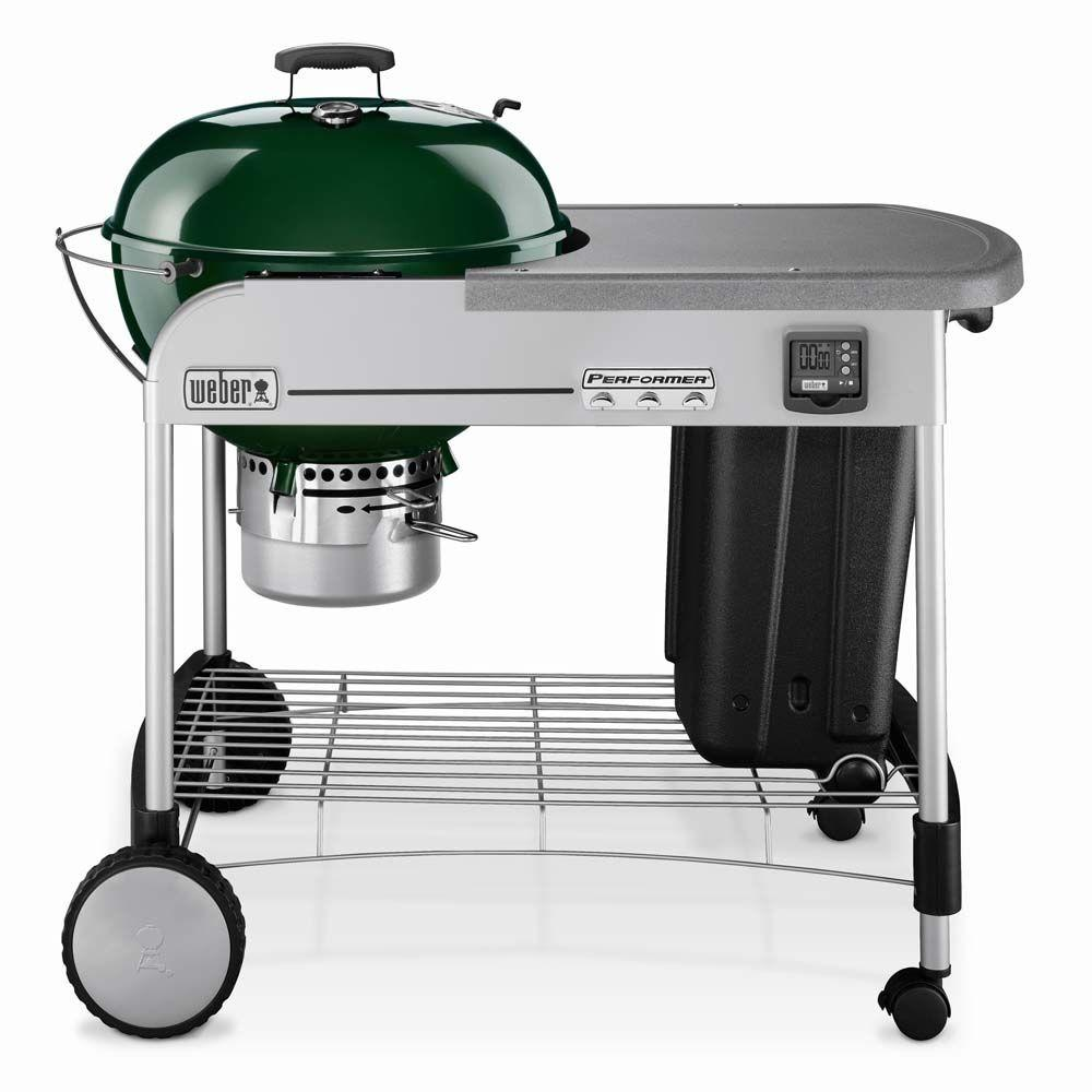 Weber Performer Gold 22-1/2 in. Charcoal Grill in Green