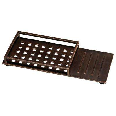 Vero 12 in. Vanity Tray with Rubber Feet in SpotShield Venetian Bronze