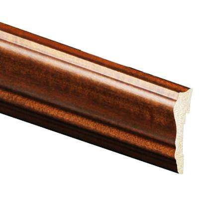 5/8 in. x 2-5/8 in. x 96 in. Polystyrene Mahogany Chair Rail Moulding (5-Pack)