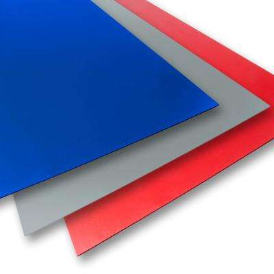 18 in. x 24 in. x 0.236 in. Blue/Grey/Red Foam PVC (3-Pack)