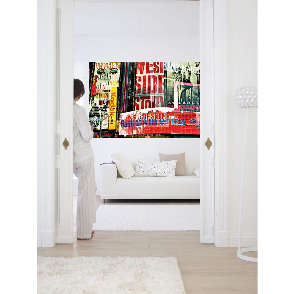 45 in. x 0.25 in. Times Square Neon Stories Wall Mural