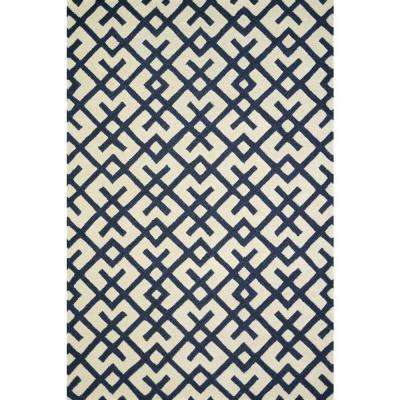 Weston Lifestyle Collection Ivory/Navy 5 ft. x 7 ft. 6 in. Area Rug