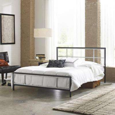 Wentworth Black and Silver Queen Platform Bed