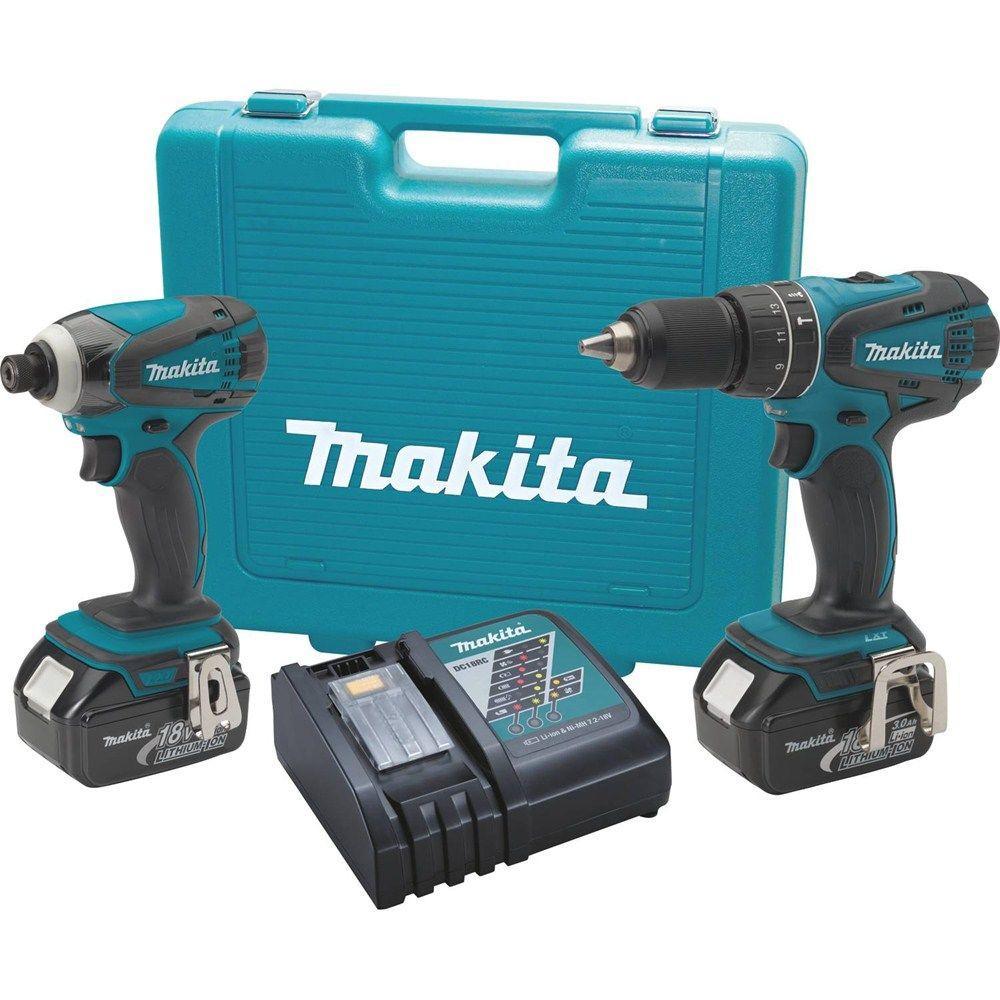 Makita 18-Volt LXT Lithium-Ion Cordless Combo Kit (2-Piece)